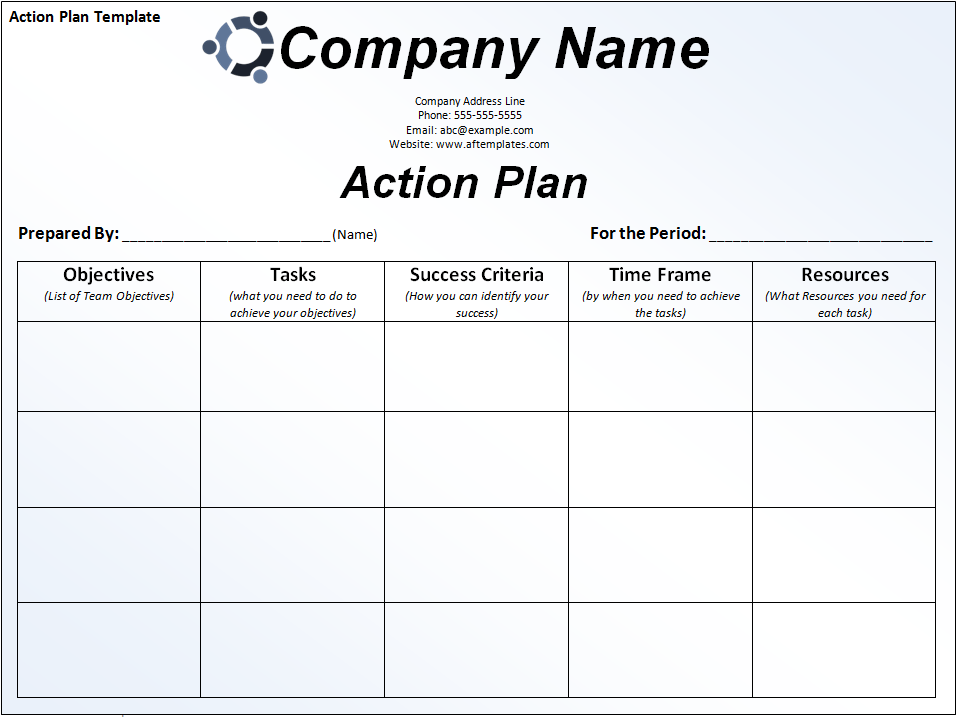 Action Plan Template | Free Word's Templates