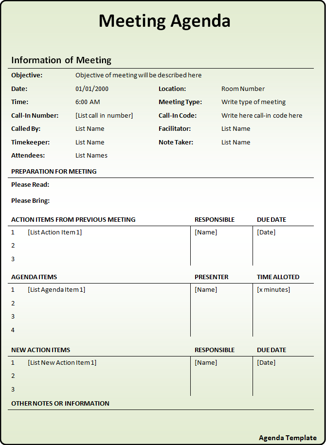 Doc444575 Agenda Template Microsoft Word Meeting Word – Microsoft Agenda Template