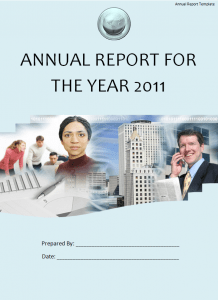 Free Annual Report Template  Annual Report Template Word