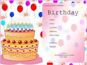 File Size : 192.58 KB ...  Birthday Invitation Word Template
