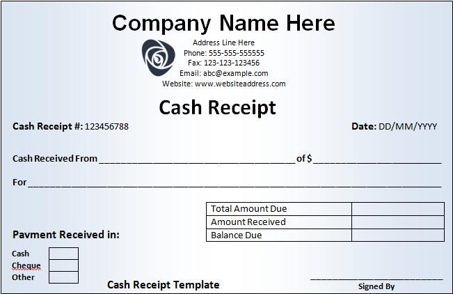cash receipt template - free word templatesfree word templates, Invoice examples