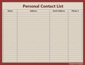 File Size : 14.59 KB ...  Free Contact List Template