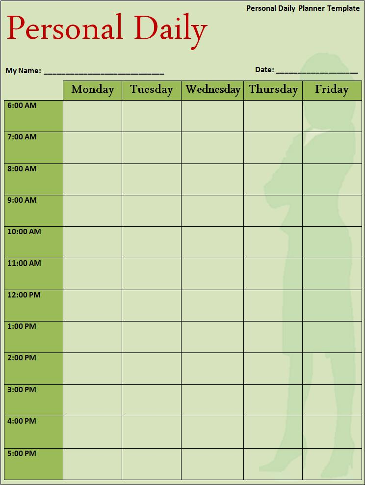 Daily planner template free word 39 s templates for Daily schedule template for students