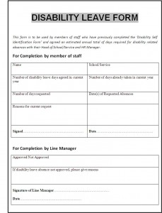 disability form
