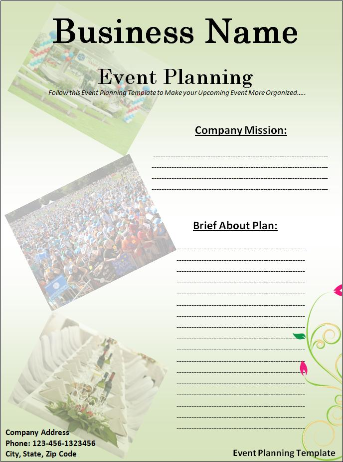 Event planning template free word templatesfree word for Template for planning an event