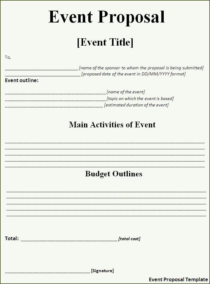 Click on the download button to get this Event Proposal Template.