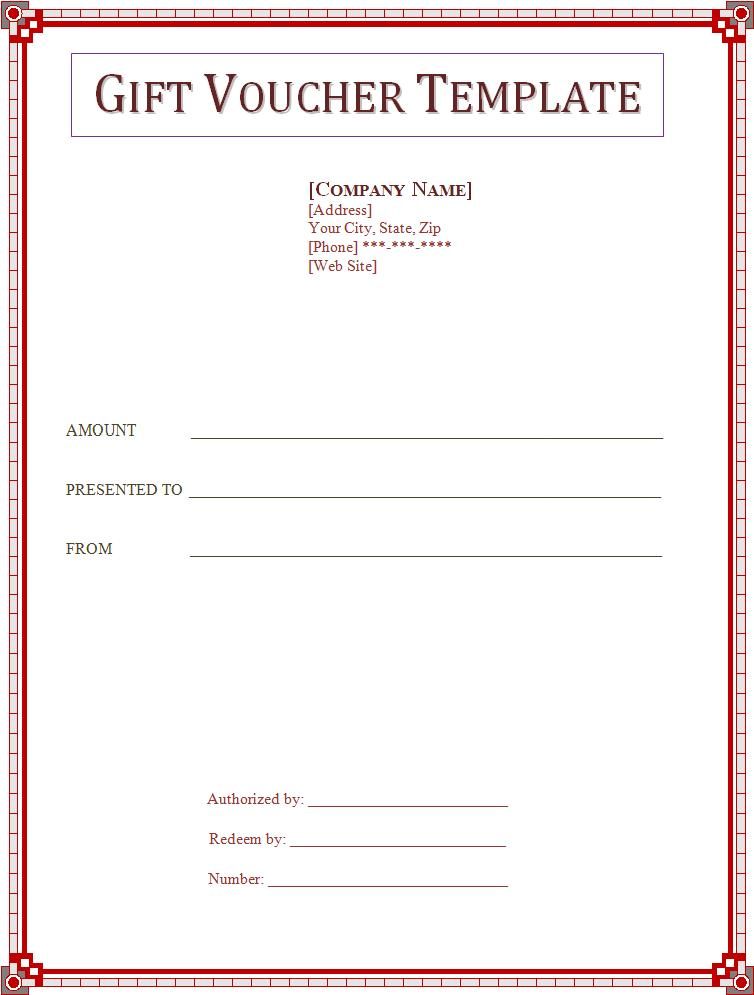 Voucher templates free word 39 s templates for Gift certificate example templates