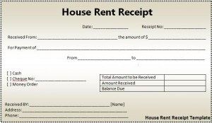 house rent receipt format word  s templates rent receipt format