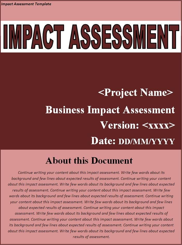 organizational assessment template