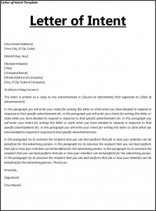 Ordinaire Free Letter Of Intent Template