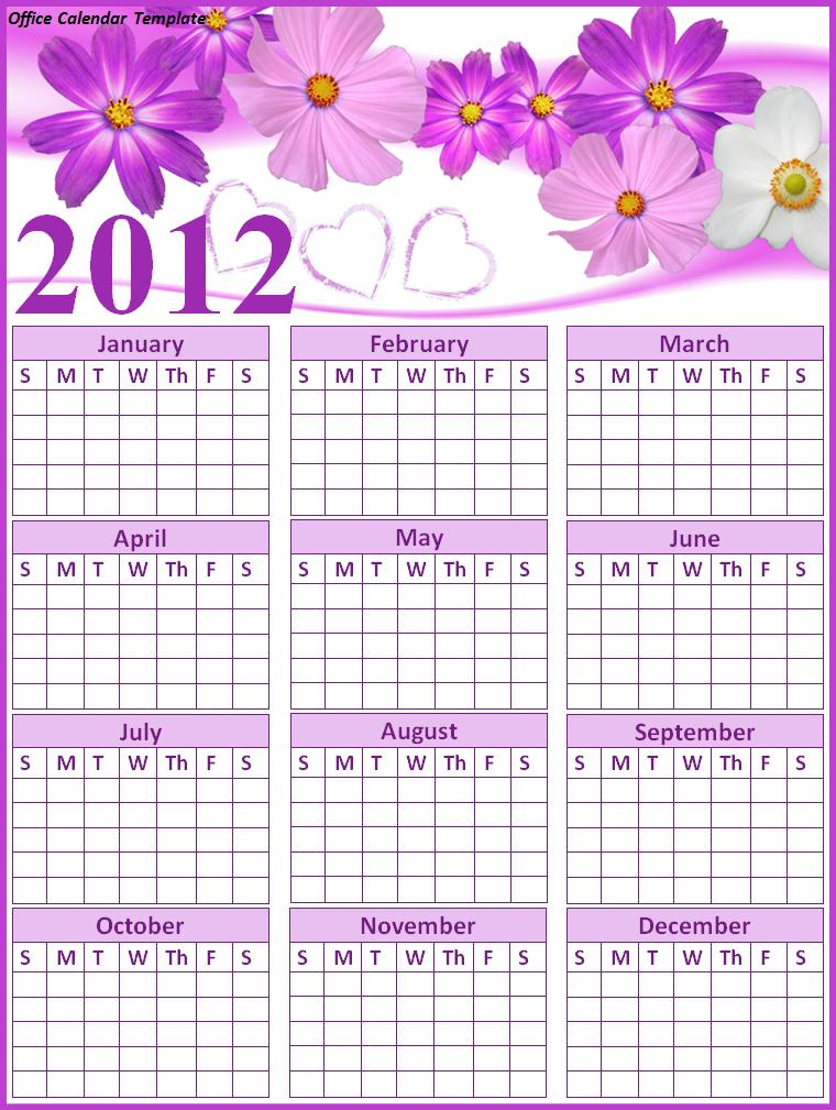 Calendar Template  Office Template Calendar