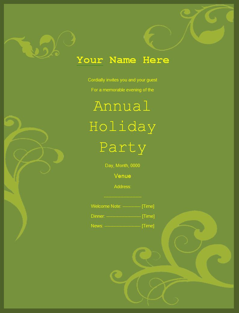 free email invitation templates for word