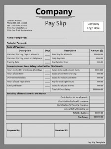 High Quality File Size : 17.17 KB ...  Payslip Template Free
