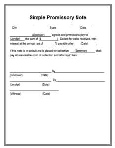12+ Promissory Note Templates | Word, Excel & PDF Templates
