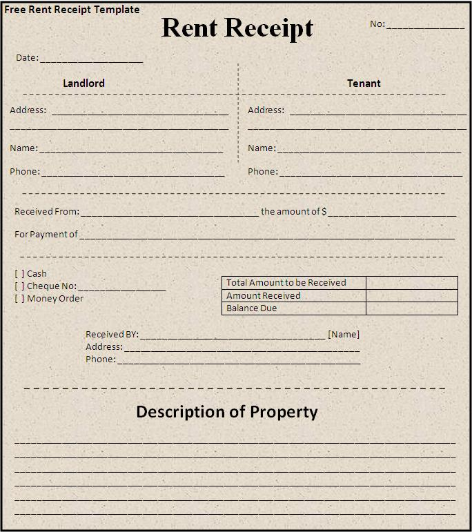 Doc685399 House Rent Receipt Sample Rent Receipt Sample 85 – House Rent Slips