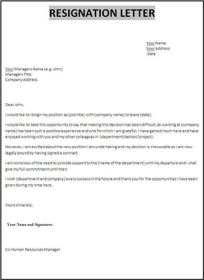 Resignation letter template thecheapjerseys Images