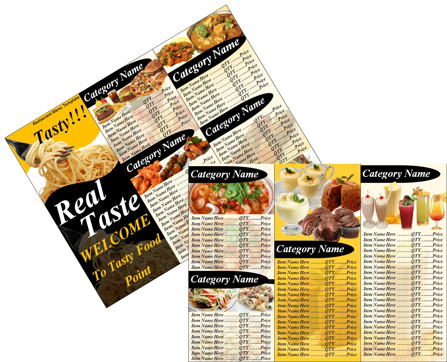 Free Restaurant Menu Templates - Free Word TemplatesFree Word ...