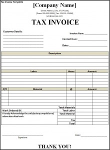tax invoice template - free word templatesfree word templates, Invoice templates
