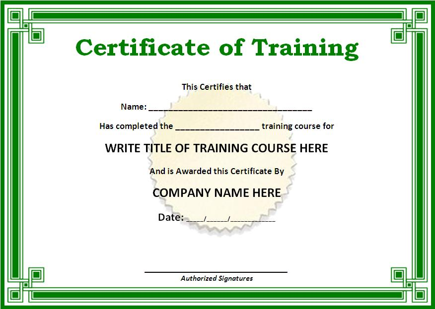 click on the download button to get this training certificate