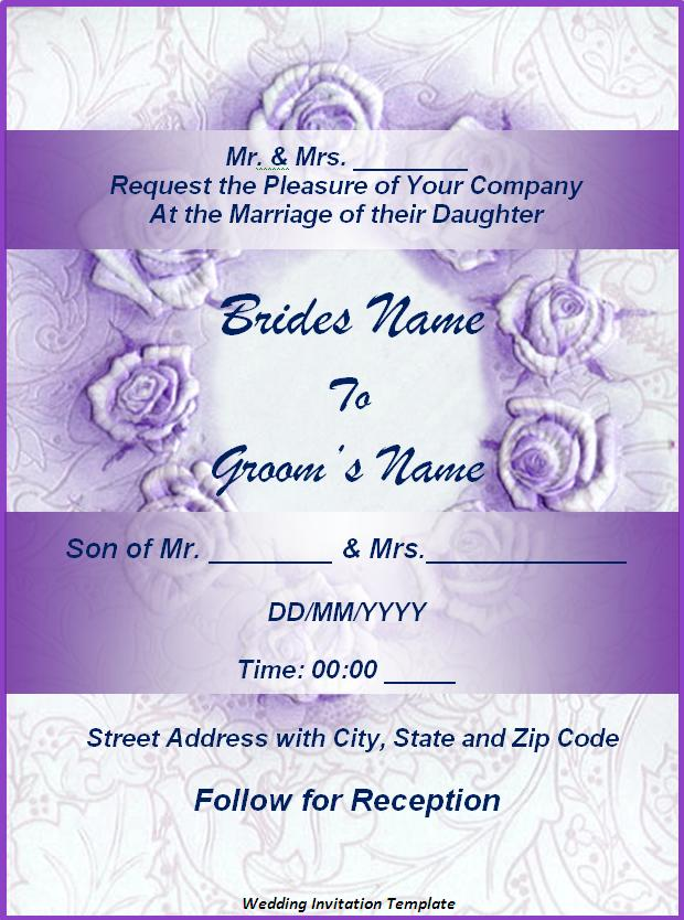 Invitation templates free word 39 s templates for Free wedding invitation templates for word