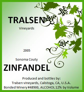 Wine label template word