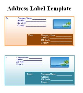 template for address labels in word