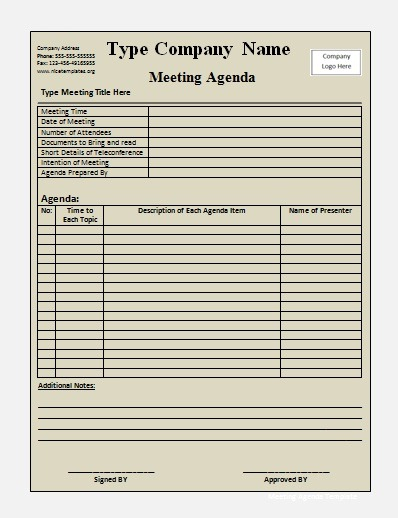 example meeting minutes template
