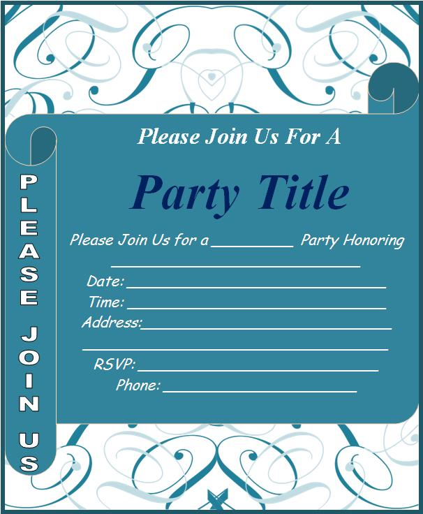 invitation word template – Free Templates for Invitation Cards