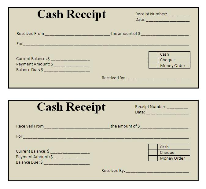 Receipt For Lease Security Deposit Acknowledged Receipt Of Goods – Cash Receiving Format