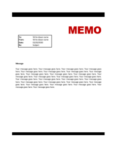 File Size : 29.79 KB ...  Memo Template Word