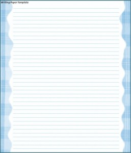 lined writing paper with drawing space