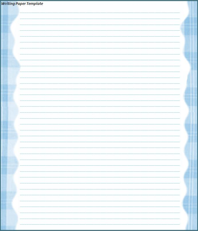 Click on the download button to get this Writing Paper Template.