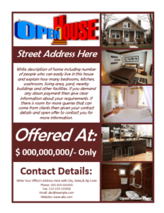 File Size : 541.37 KB ...  Free Open House Flyers