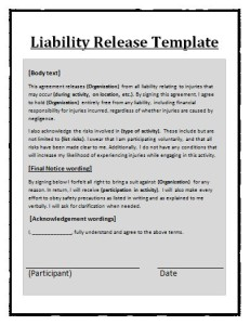 Liability Release Template
