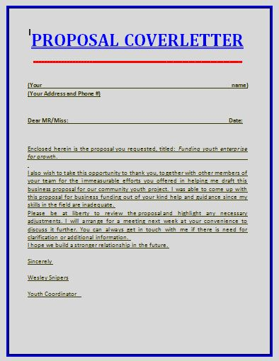 proposal job cover letter
