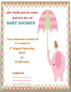 File Size : 51.05 KB ...  Baby Shower Invitation Templates For Word