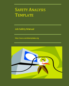 Task Safety Analysis Template
