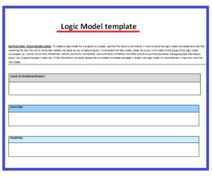 Blank logic model template free word 39 s templates for Evaluation logic model template