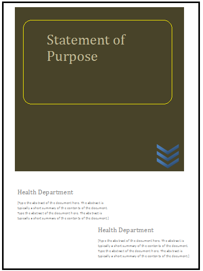Statement Templates in Word