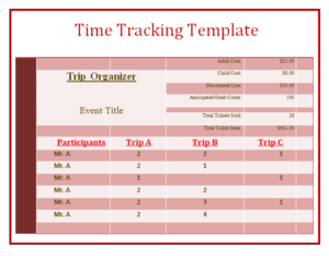 Free Time Tracking Template