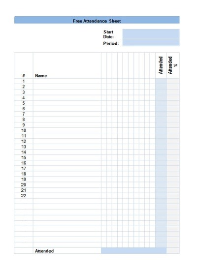 Attendance Sheet Template | 14+ Free Printable Word, Excel ...