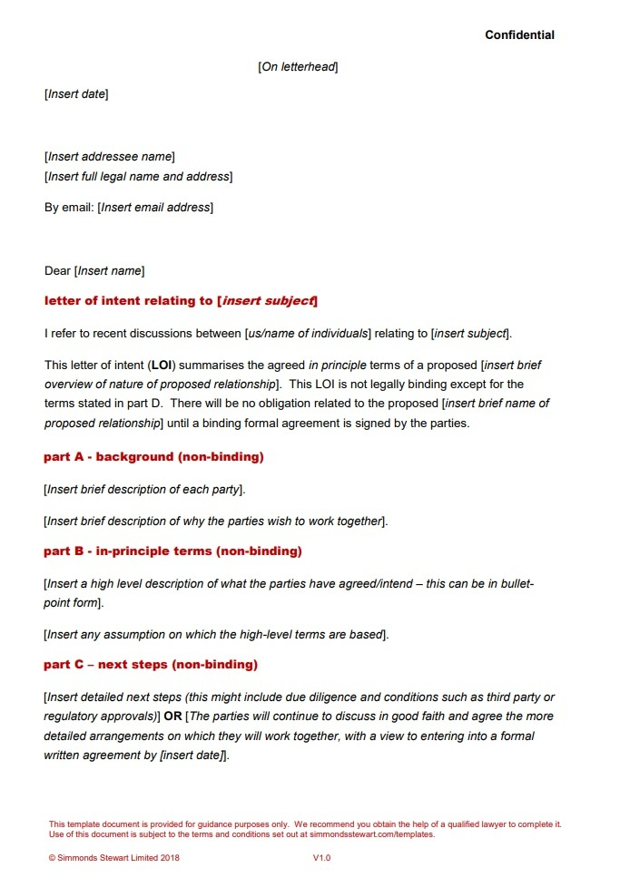 Sample Letter Of Intent To Do Business Together from www.wordstemplates.org