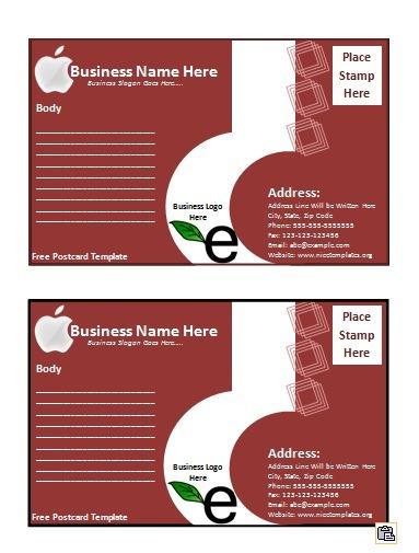 Postcard Templates | 18+ Free Printable Word, PSD & PDF ...