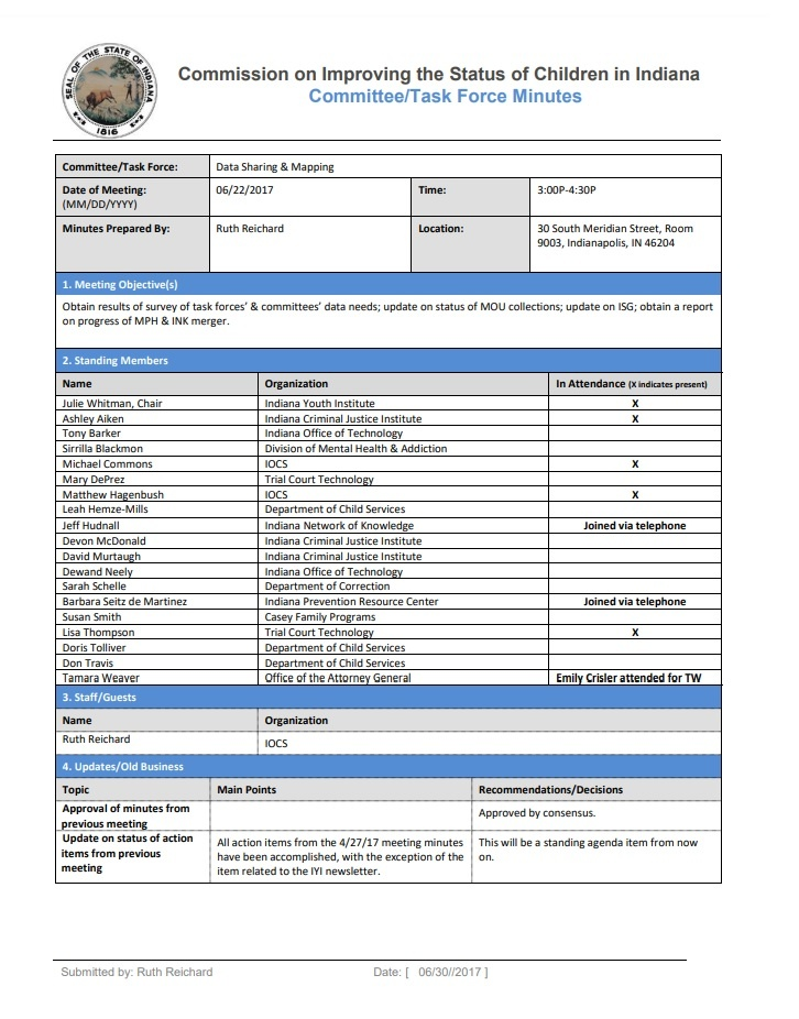 Meeting Minutes Template Free Word Templates