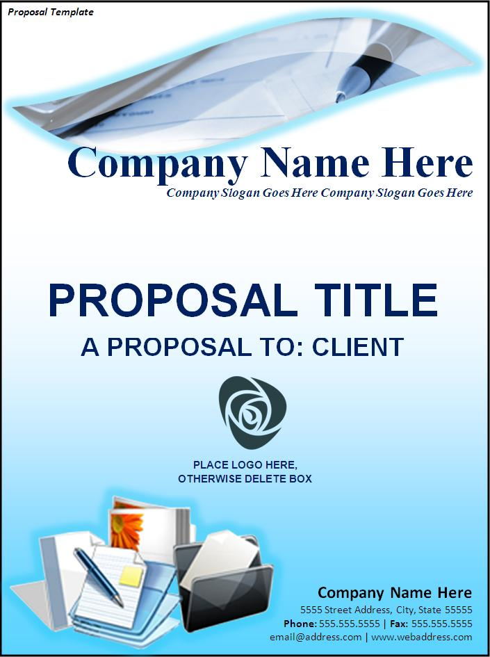 Proposal Cover Page Template  Proposal Cover Sheet Template
