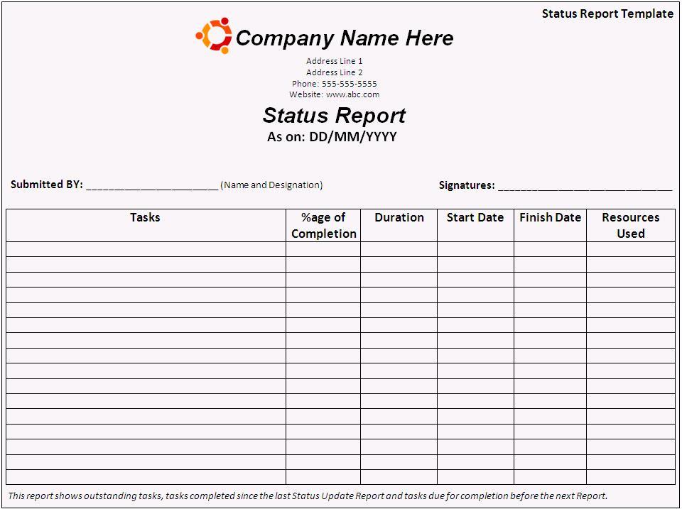 report templates