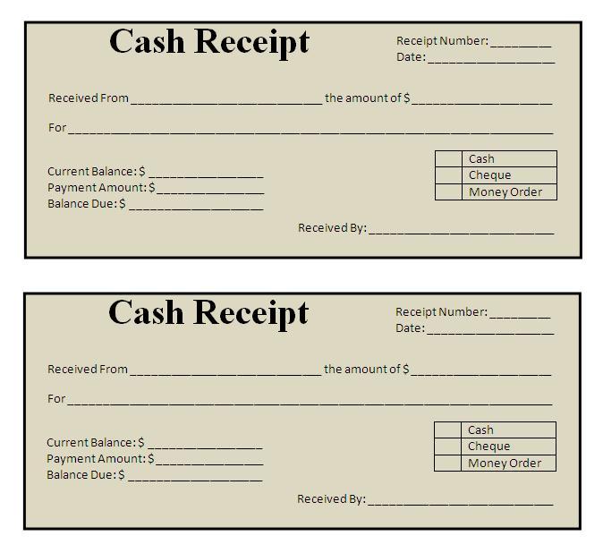 Receipt Sample | Free Word's Templates