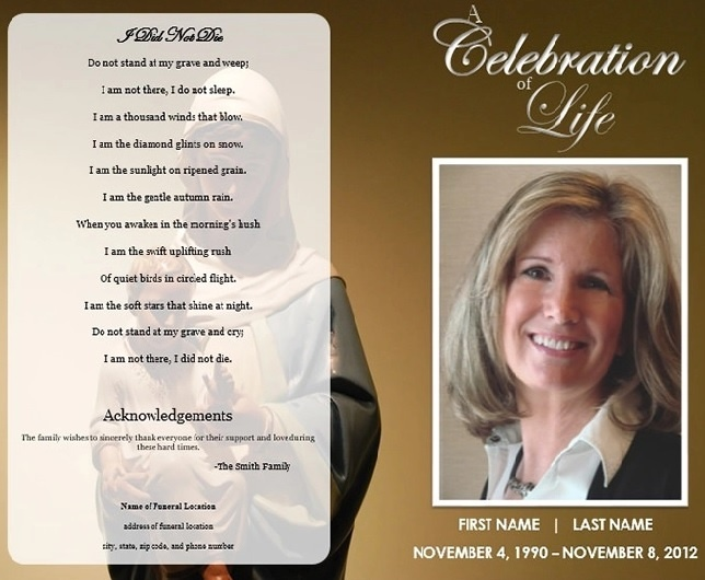 Funeral Program Templates 13 Free Printable Word Pdf Formats Samples Designs