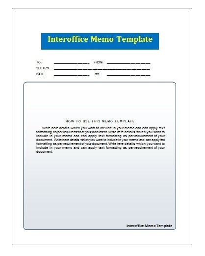 Office Memo Template from www.wordstemplates.org