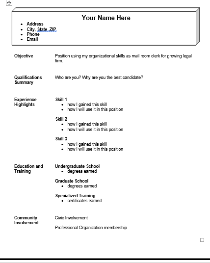 Functional Resume Templates | 5+ Free Printable CV Templates